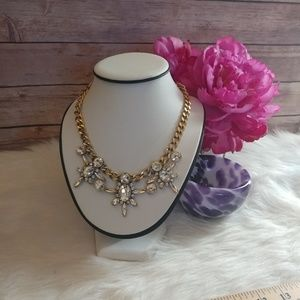 J. Crew gold & Glass statement necklace